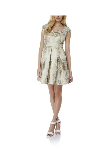 Yumi Metallic Jacquard Party Dress