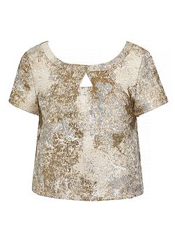 Metallic Jacquard Top