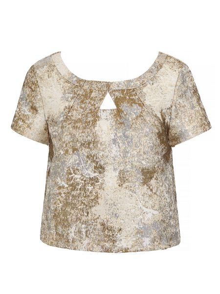 Yumi Metallic Jacquard Top