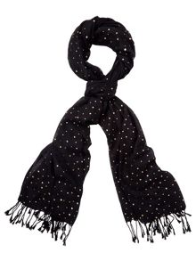 Yumi Contrast Knitted Scarf