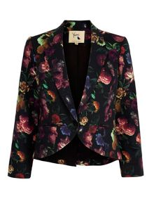 Yumi Floral Print Stretch Jacket