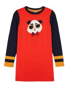 Panda Print Jumper Dress