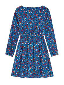 Yumi Girls Floral And Beetle Print Dress
