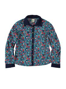 Yumi Girls Floral And Beetle Print Shirt