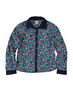 Floral And Beetle Print Shirt