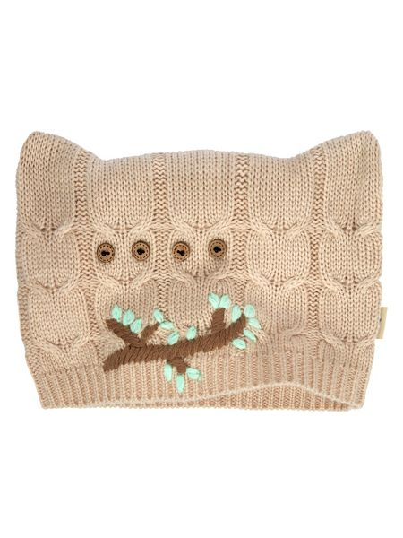 Yumi Embroidered Owl Knitted Hat