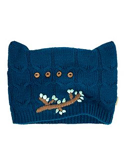 Embroidered Owl Knitted Hat