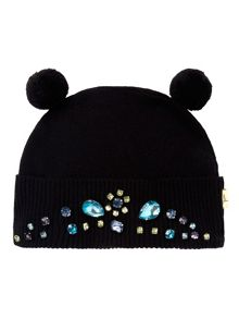 Bejewelled Bobble Hat