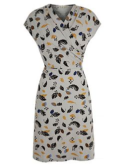 Uttam Boutique Feather Print Jersey Dress