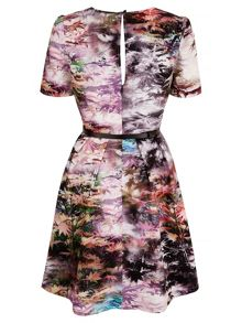 Uttam Boutique Maple Leaf Print Tea Dress