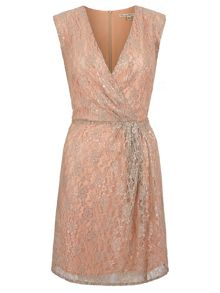 Metallic Lace Party Dress