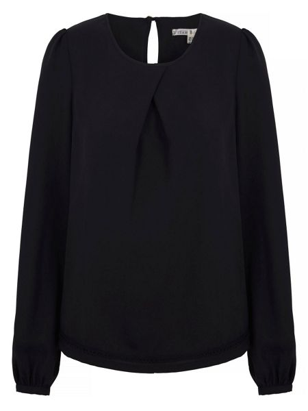 Uttam Boutique Long Sleeve Pleat Detail Blouse
