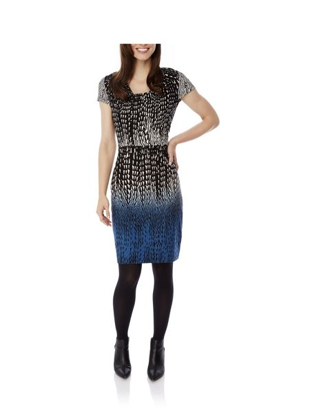 Uttam Boutique Geo Dip Dye Print Dress