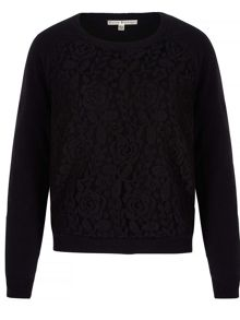 Uttam Boutique Lace Detail Jumper