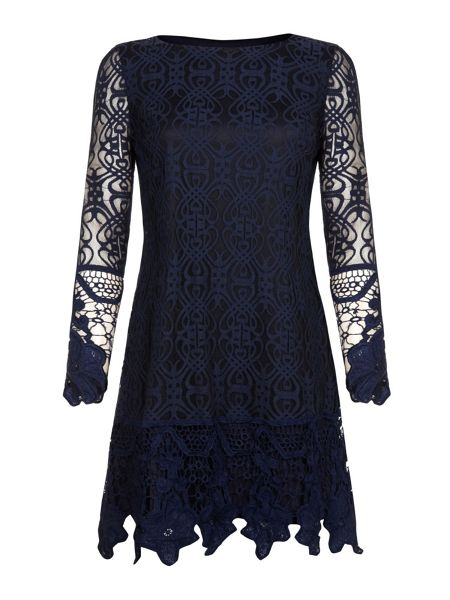 Mela London Beaded collar dress