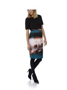 Tree Print Pencil Skirt