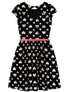 Lace Heart Print Dress