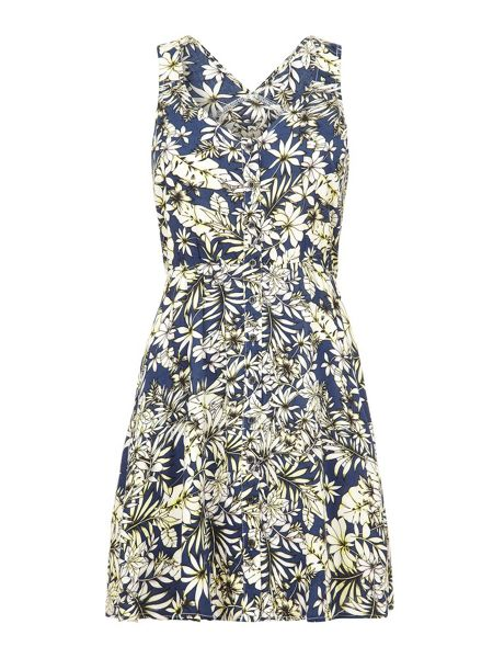 Mela London Hawaiian Floral Print Dress