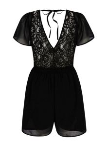 Lace Back Day Playsuit