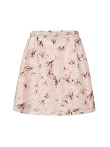 Eastern Bird Print Skirt