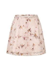 Yumi Eastern Bird Print Skirt
