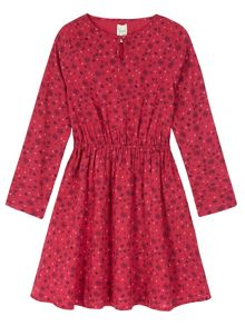 Yumi Girls Girls Floral Heart Print Tunic Dress