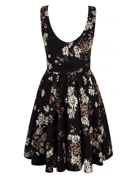Mela London Daisy Floral Print Belted Dress