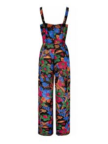 Floral Print Button-Up Jumpsuit