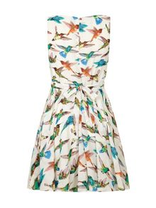 Mela Loves London Bird Print Day Dress