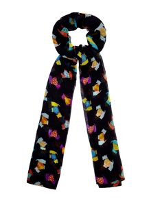 Yumi Scotty Dog Print Scarf