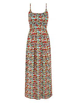 Ditsy Floral Print Maxi Dress