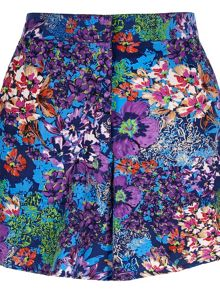 Floral Print Two Pocket Shorts