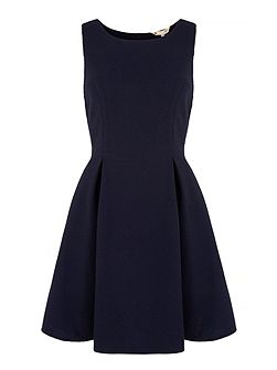 Round Neck Pique Skater Dress