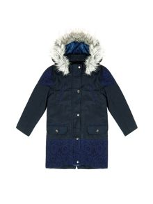 Yumi Girls Girls Faux Fur Hood Parka Coat