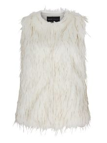 Mela London Faux Fur Sleeveless Gilet