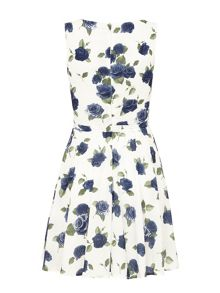 Mela Loves London Floral Print Prom Dress