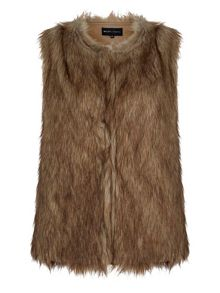 Mela Loves London Faux Fur Sleeveless Gilet