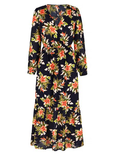 Mela London Tropical Floral Print Maxi Dress
