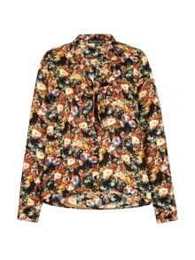 Rose Print Pussybow Blouse