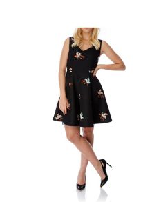 Mela London Bird Print Skater Dress