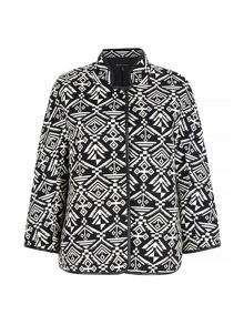 Mela Loves London Monochrome Aztec Print Jacket