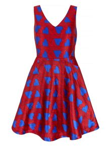 Mela Loves London Heart Print Prom Dress