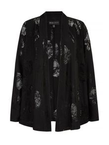 Mela Loves London Lace Cutout Cardigan Jacket