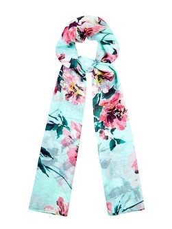 Tropical Floral Print Scarf