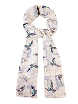 Flying Bird Print Scarf