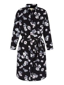 Yumi Floral Print Shirt Dress