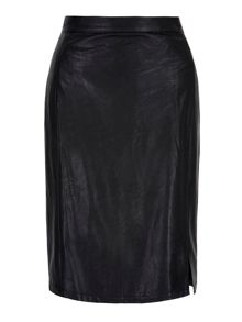 Yumi Leather Look Pencil Skirt