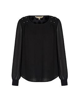 Embellished Shoulder Tunic Top