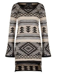 Mela London Aztec Print Jumper Dress