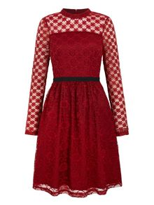 Yumi Patchwork Lace Dress